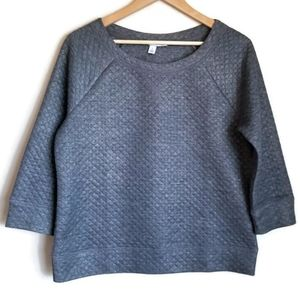 🔥SALE!🔥 halogen quilted crewneck sweatshirt